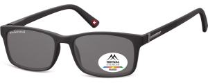 MP25;;Negro + lente ahumada<br><br>Polarized - Flex - Matt finishing  - Soft Pouch Included;54;17;140