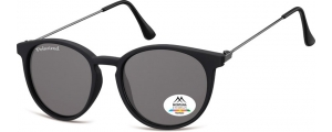 MP33;; Negro + lente ahumada  Polarized - Rubbertouch - Soft Pouch Included ;50;17;145