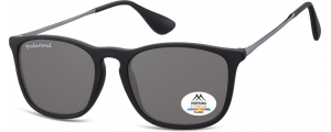 MP34;; Negro + lente ahumada  Polarized - Rubbertouch - Soft Pouch Included ;54;18;145