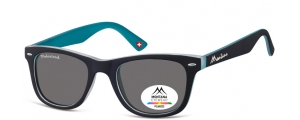 MP41C;; Negro + azul  Polarized - Rubbertouch - Soft Pouch Included ;50;22;152