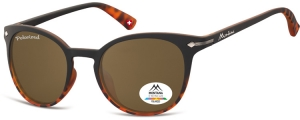 MP50B;; Negro + Carey + lente marrón  Polarized - Rubbertouch - Soft Pouch Included ;50;22;140