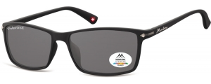 MP51;; Negro + lente ahumada  Polarized - Rubbertouch - Soft Pouch Included ;57;17;140