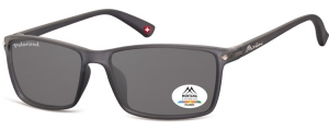 MP51F;; Gris oscuro + lente ahumada  Polarized - Rubbertouch - Soft Pouch Included ;57;17;140