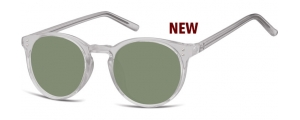 SG-CP123;; Transparente gris + lentes G15  Injected CP Sunglasses - Optical Quality - UV400 - CAT 3. - Soft Pouch Included ;48;22;143
