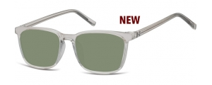 SG-CP124;; Transparente gris + lentes G15  Injected CP Sunglasses - Optical Quality - UV400 - CAT 3. - Soft Pouch Included ;51;18;144