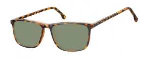 SG-CP132B;; Carey + lentes G15  Injected CP Sunglasses - Optical Quality - UV400 - CAT 3. - Soft Pouch Included ;54;16;145
