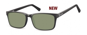 SG-CP150;; Negro + lentes G15 Flex Injected CP Sunglasses - Optical Quality - UV400 - CAT 3. - Soft Pouch Included ;55;17;145