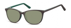 SG-CP152C;;Marrón + verde + lentes G15FlexInjected CP Sunglasses - Optical Quality - UV400 - CAT 3. - Soft Pouch Included;52;16;145