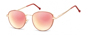 SPG-918;;Oro rosa + rojo + Revo oro rosaFlexMetal Sunglasses - Optical Quality - UV400 - CAT 3. - Soft Pouch Included;52;19;140