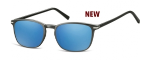 SRB-CP120;; Negro + lentes Revo azul   Injected CP Sunglasses - Optical Quality - UV400 - CAT 3. - Soft Pouch Included ;52;19;140