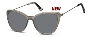 SS-CP121A;; Gris oscuro transparente + lentes ahumadas  Injected CP Sunglasses - Optical Quality - UV400 - CAT 3. - Soft Pouch Included ;51;17;145