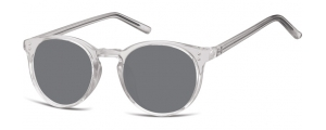 SS-CP123;;Transparente gris + lentes ahumadasInjected CP Sunglasses - Optical Quality - UV400 - CAT 3. - Soft Pouch Included;48;22;143