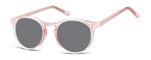 SS-CP123C;;Rosa transparente + lentes ahumadasInjected CP Sunglasses - Optical Quality - UV400 - CAT 3. - Soft Pouch Included;48;22;143