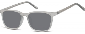 SS-CP124;;Transparente gris + lentes ahumadasInjected CP Sunglasses - Optical Quality - UV400 - CAT 3. - Soft Pouch Included;51;18;144