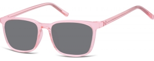 SS-CP124C;;Rosa transparente + lentes ahumadasInjected CP Sunglasses - Optical Quality - UV400 - CAT 3. - Soft Pouch Included;51;18;144