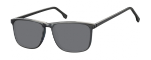 SS-CP132;; Negro + lentes ahumadas  Injected CP Sunglasses - Optical Quality - UV400 - CAT 3. - Soft Pouch Included ;54;16;145