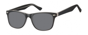 SS-CP134A;;Negro + transparente + lentes ahumadasInjected CP Sunglasses - Optical Quality - UV400 - CAT 3. - Matt finishing - Soft Pouch Included;53;19;147