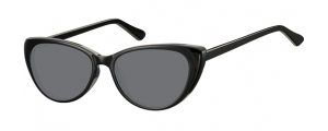 SS-CP138;;Negro + lentes ahumadasFlexInjected CP Sunglasses - Optical Quality - UV400 - CAT 3. - Soft Pouch Included;52;16;142