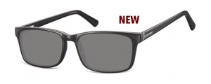 SS-CP150;; Negro + lentes ahumadas Flex Injected CP Sunglasses - Optical Quality - UV400 - CAT 3. - Soft Pouch Included ;55;17;145