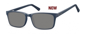 SS-CP150D;; Azul oscuro + lente ahumada Flex Injected CP Sunglasses - Optical Quality - UV400 - CAT 3. - Soft Pouch Included ;55;17;145