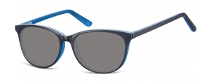 SS-CP152D;;Negro + azul + lentes ahumadasFlexInjected CP Sunglasses - Optical Quality - UV400 - CAT 3. - Soft Pouch Included;52;16;145